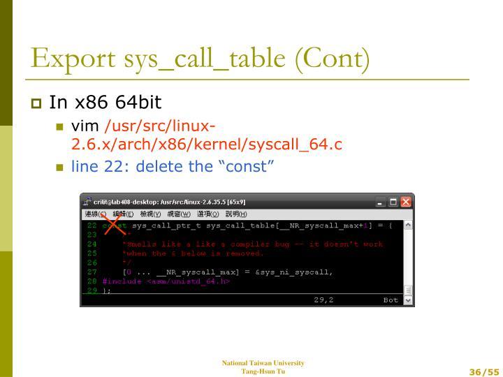 In x86 64bit
