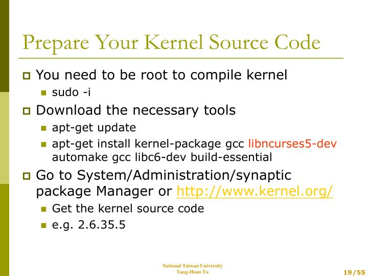You need to be root to compile kernel