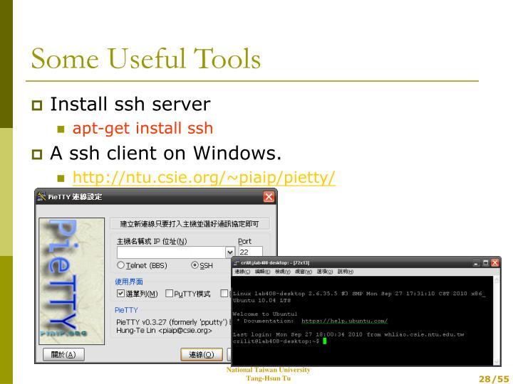 Install ssh server