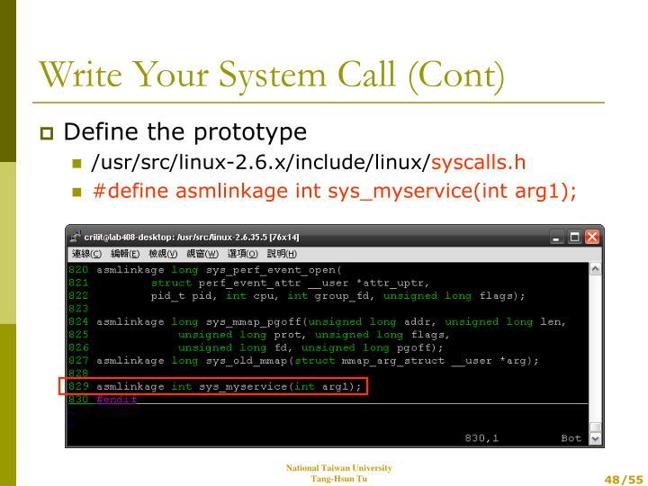 Define the prototype