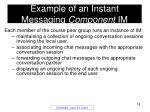 example of an instant messaging component im