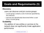 goals and requirements 5
