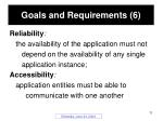 goals and requirements 6
