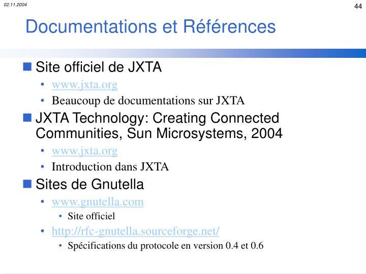 Documentations et Références