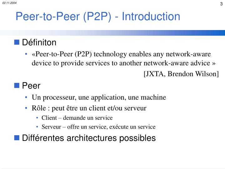 Peer to peer p2p introduction