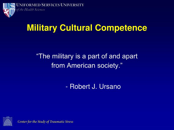 Military Cultural Competence