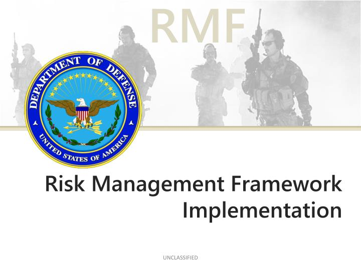 Risk management framework implementation