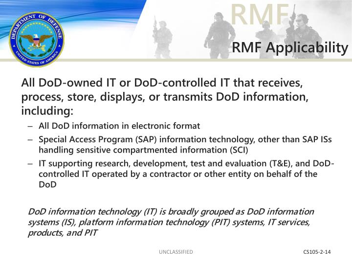 RMF Applicability