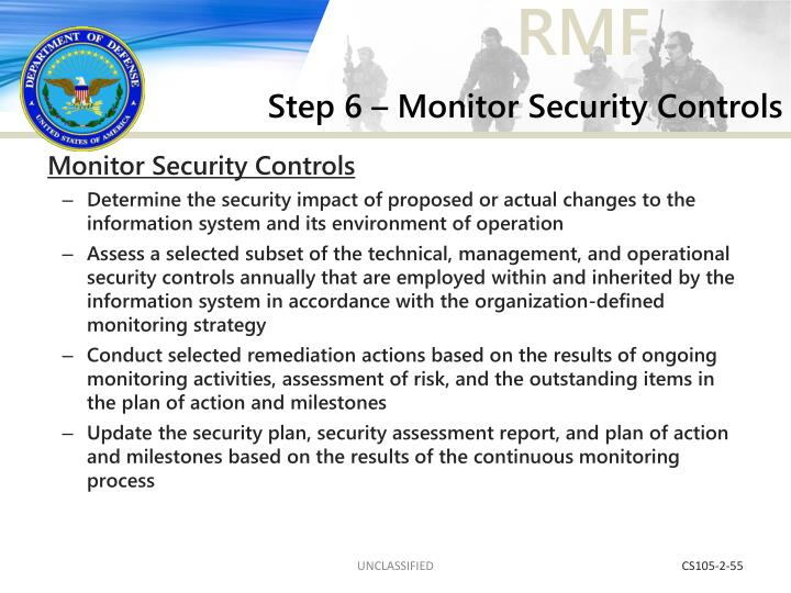 Step 6 – Monitor Security Controls