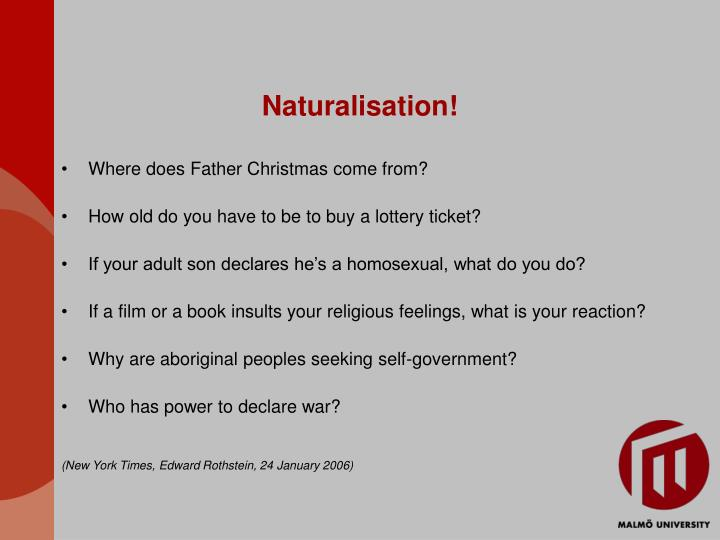 Naturalisation!