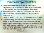 practical implementation