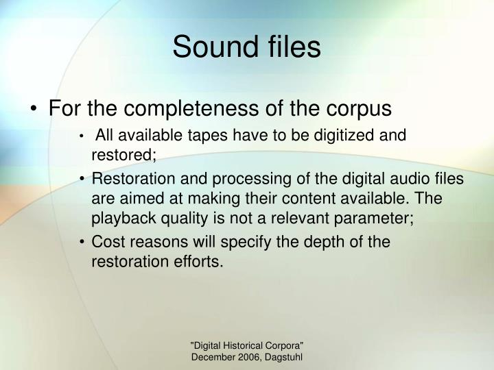 Sound files