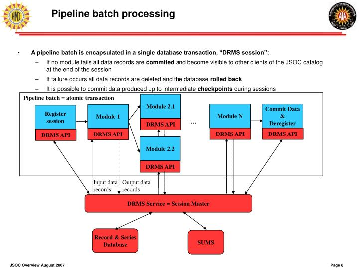 Pipeline batch processing