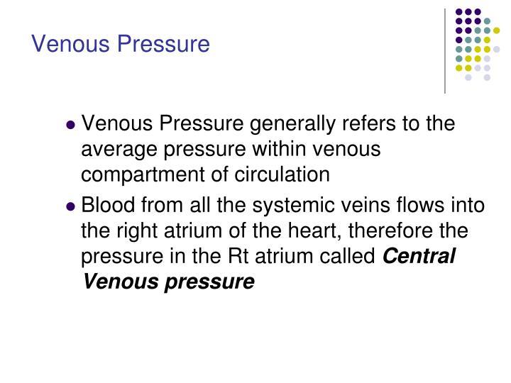 Venous Pressure