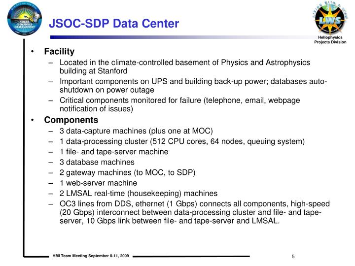 JSOC-SDP Data Center