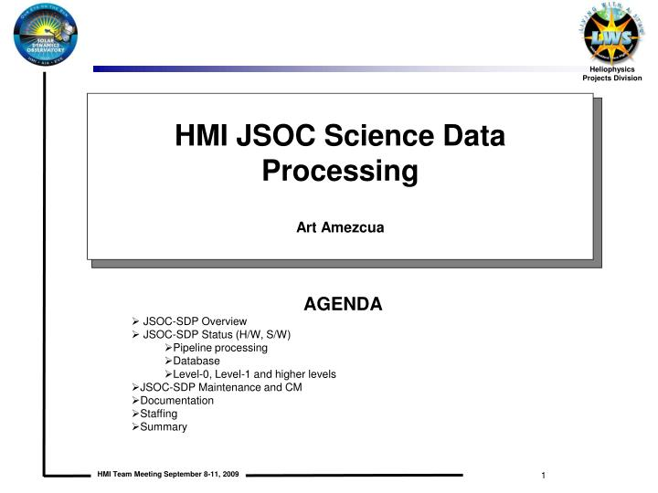 HMI JSOC Science Data Processing