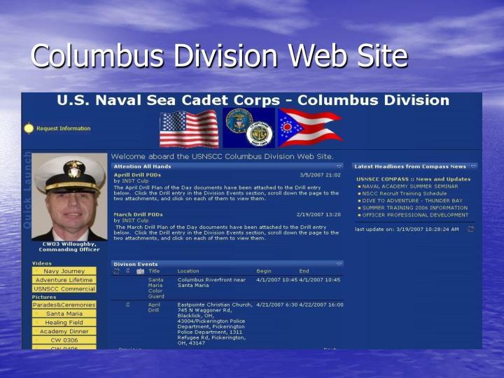 Columbus Division Web Site