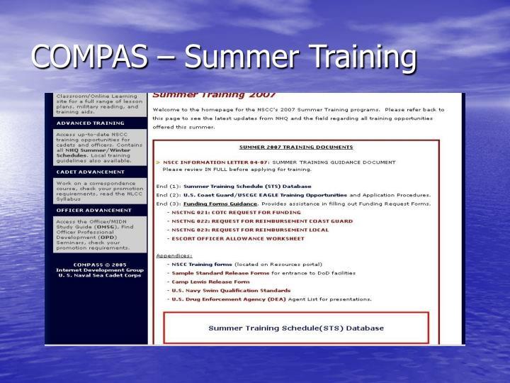 COMPAS – Summer Training