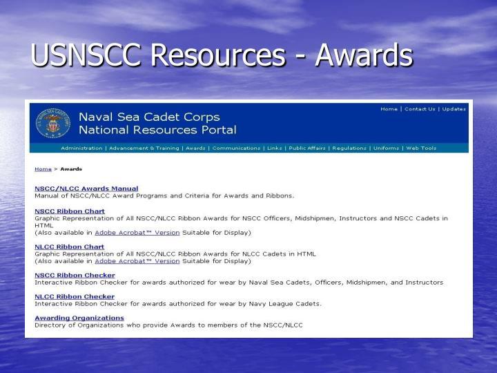 USNSCC Resources - Awards