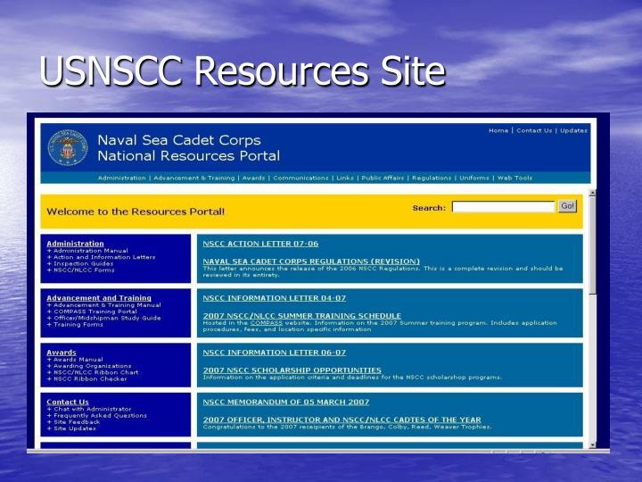 USNSCC Resources Site