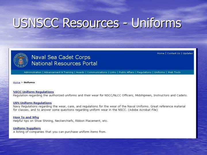 USNSCC Resources - Uniforms