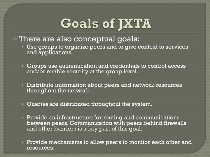 Goals of JXTA