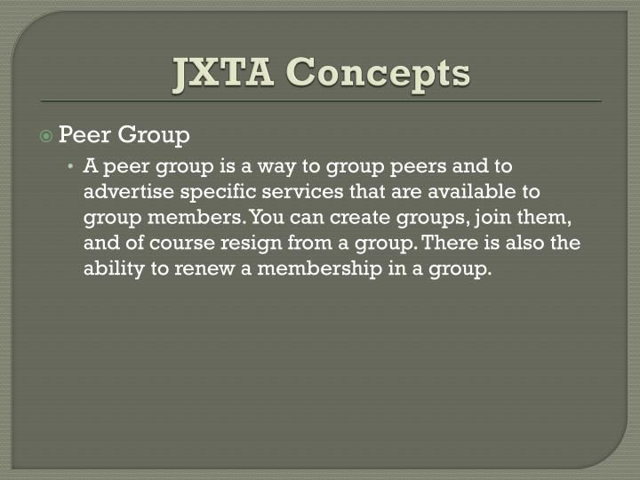 JXTA Concepts