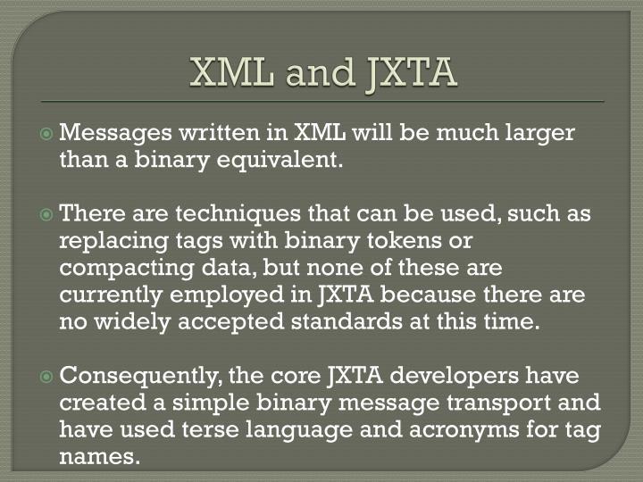 XML and JXTA