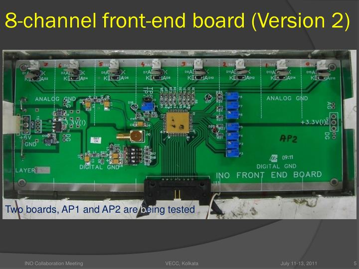 8-channel front-end board (Version 2)