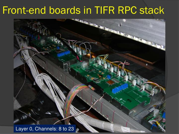 Front-end boards in TIFR RPC stack