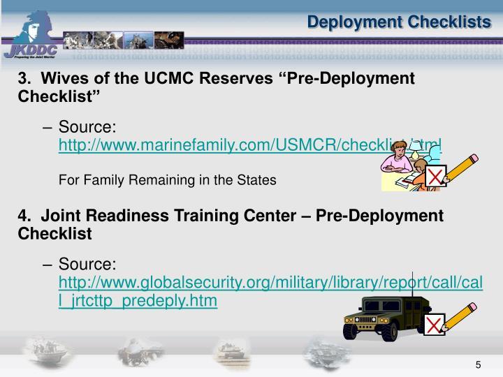 Pre deployment quotes