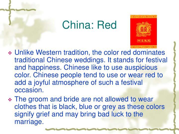 China: Red