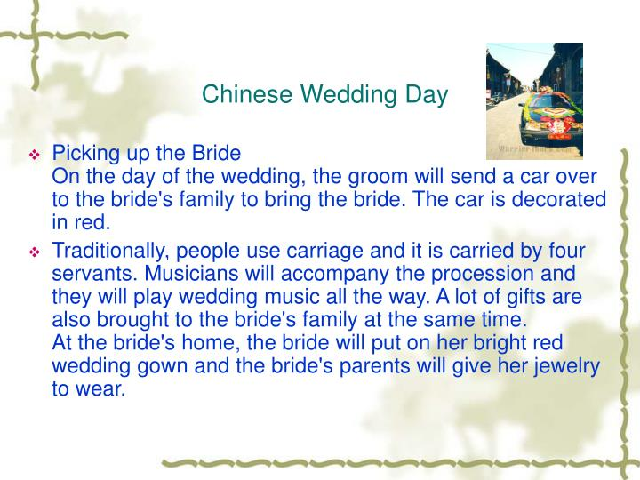 Chinese Wedding Day