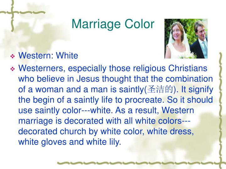 Marriage Color