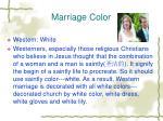 marriage color