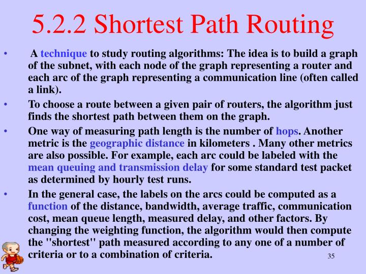 5.2.2 Shortest Path Routing