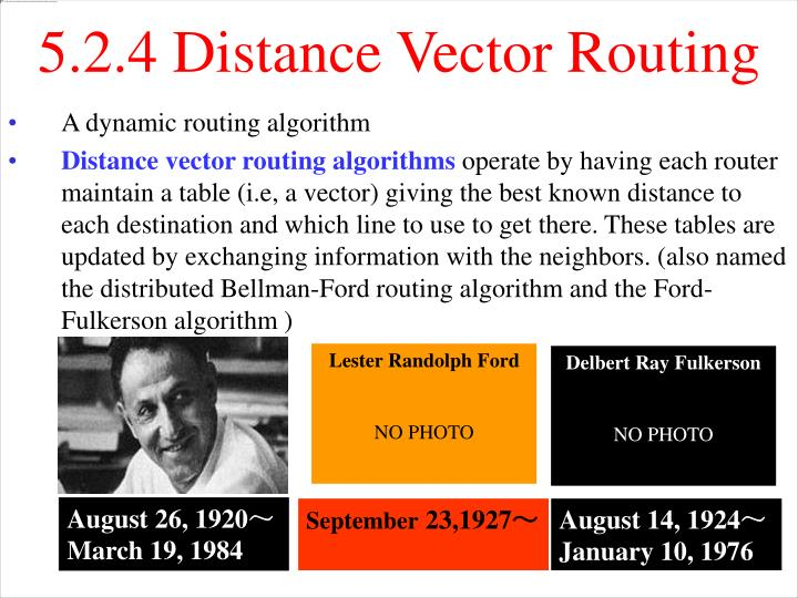 5.2.4 Distance Vector Routing