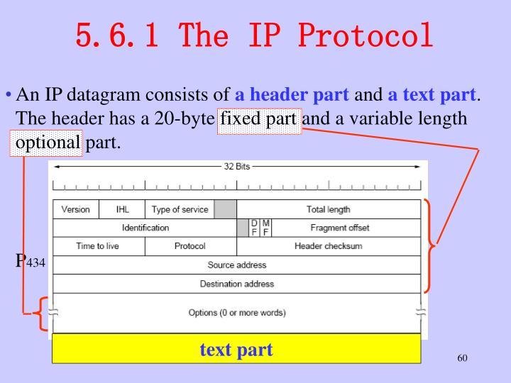 5.6.1 The IP Protocol