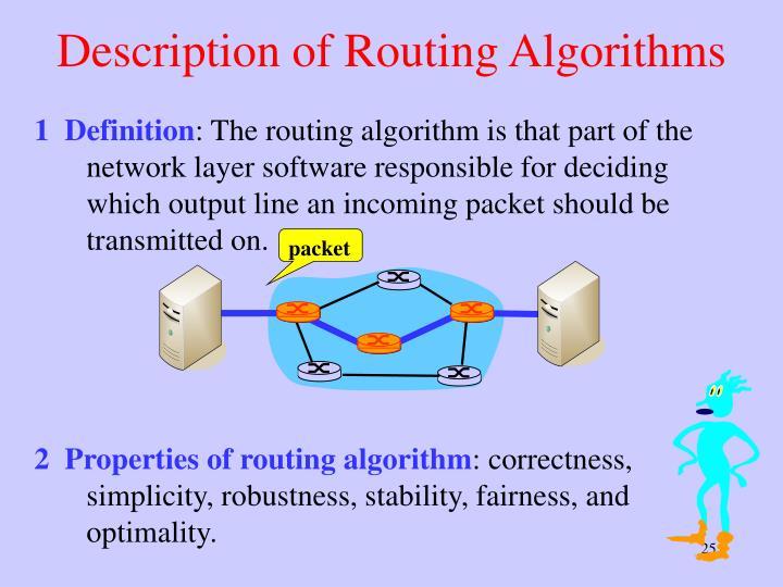 Description of Routing Algorithms