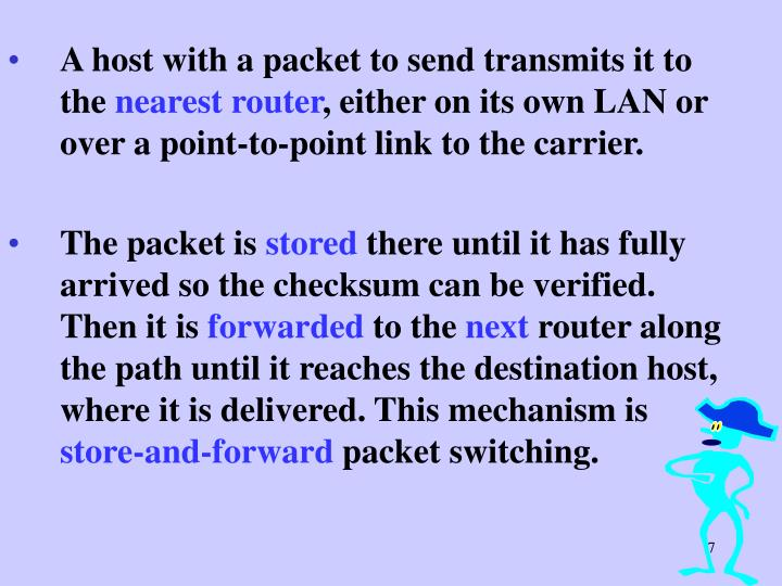 A host with a packet to send transmits it to the