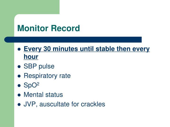Monitor Record