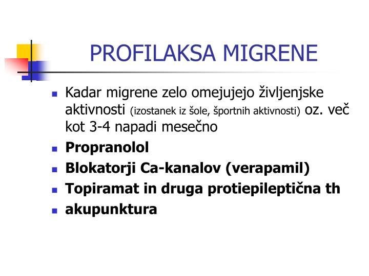 PROFILAKSA MIGRENE