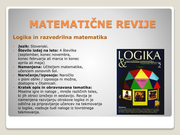 Logika in razvedrilna matematika