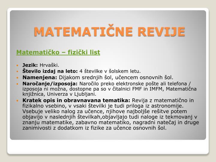 Matematičko