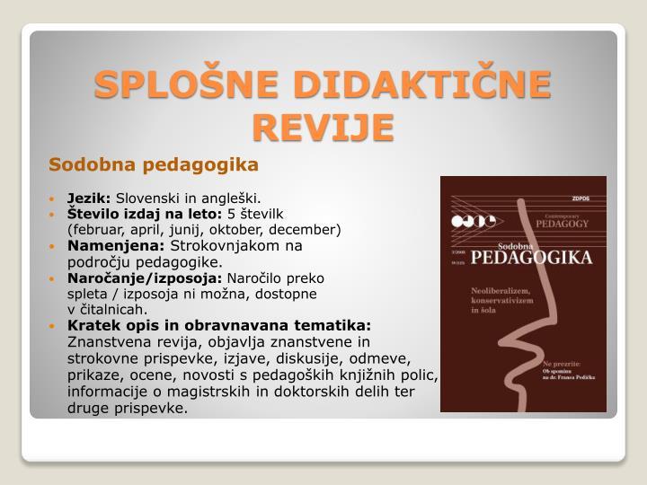 Sodobna pedagogika