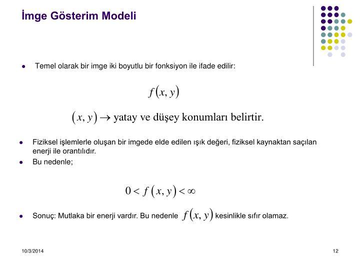 İmge Gösterim Modeli