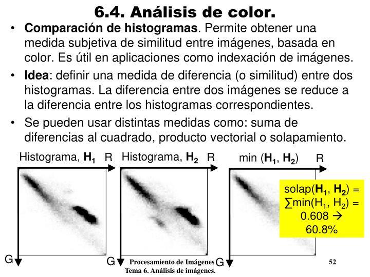 6.4. Análisis de color.
