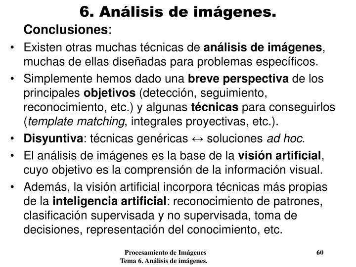 6. Análisis de imágenes.