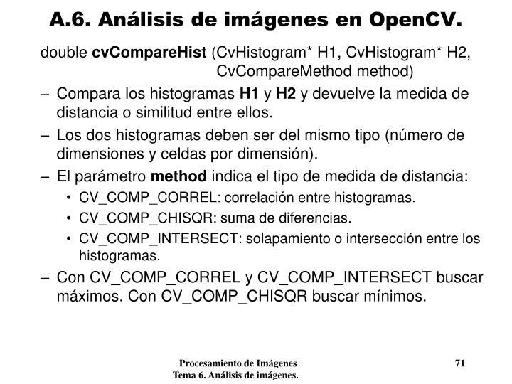 A.6. Análisis de imágenes en OpenCV.