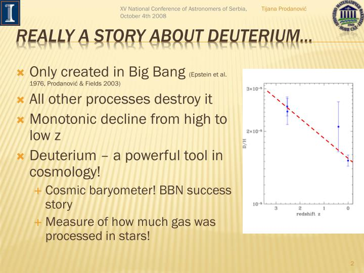 Really a story about deuterium